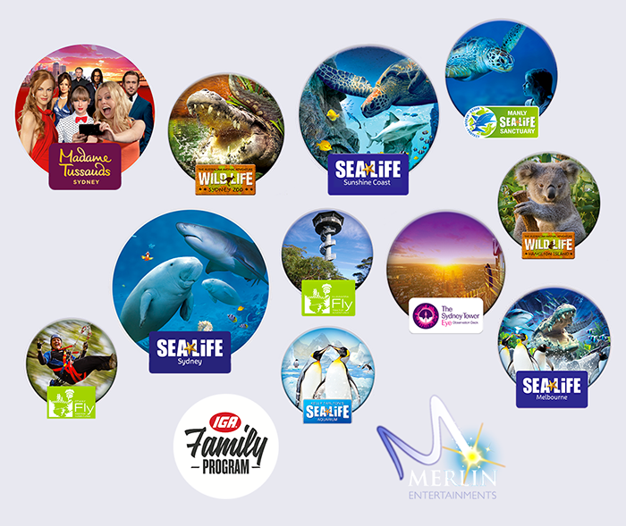 Join IGA Family Program and receive 2 for 1 entry to these popular attractions