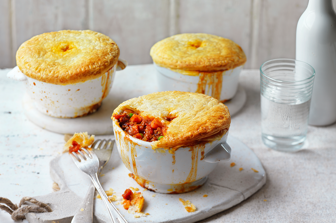 Lamb, Tomato & Sweet Potato Pot Pies