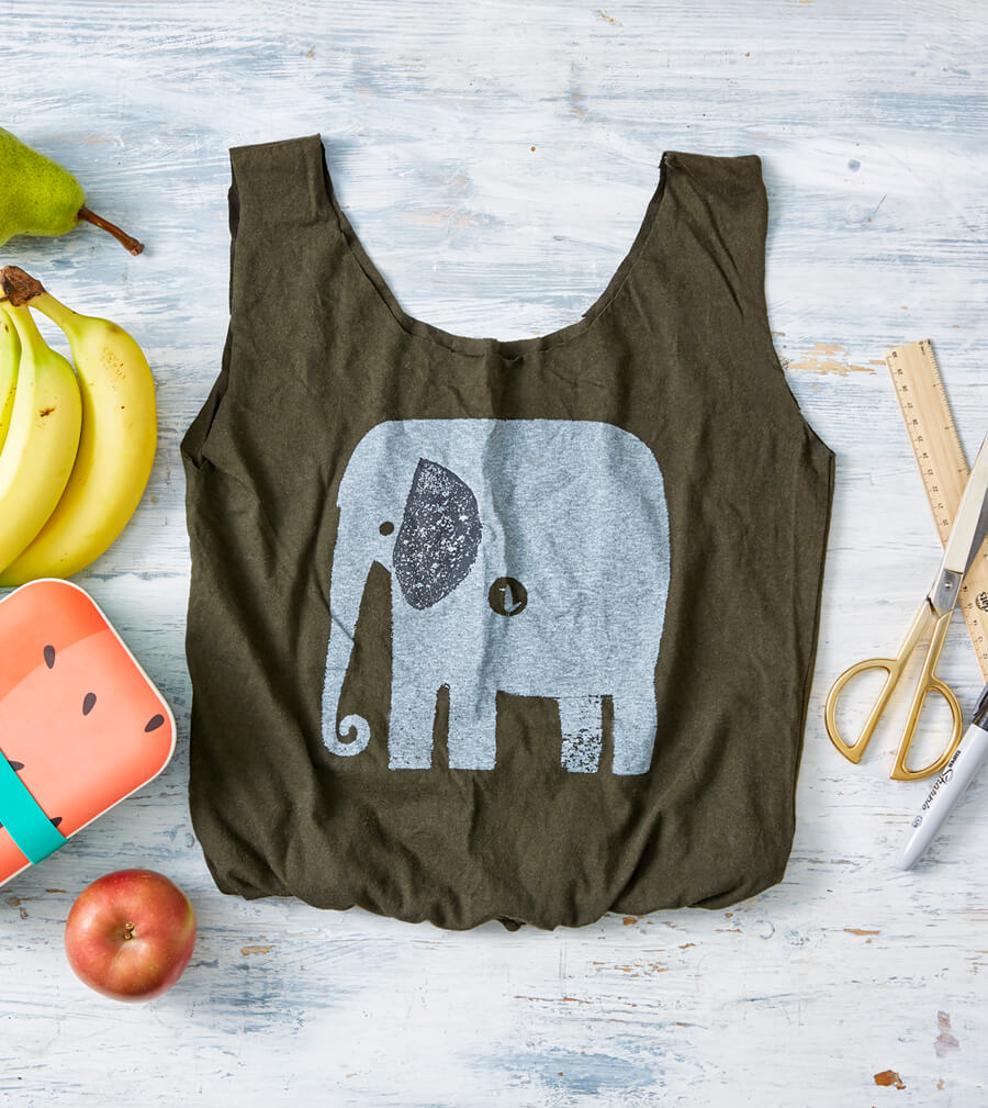 how to make recycled tshirt bags