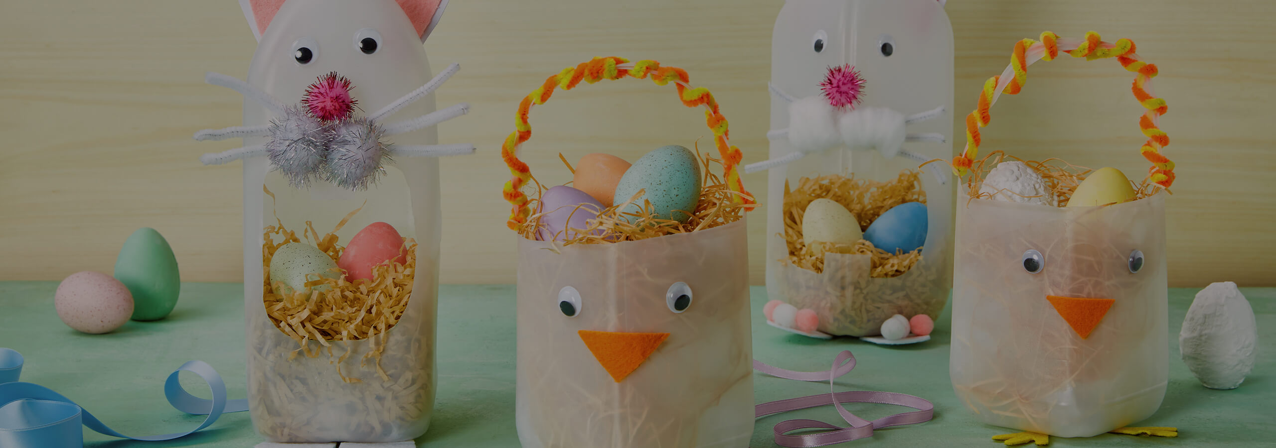 Milk Bottle Easter Baskets